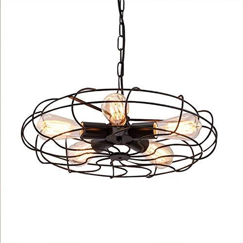 Bronze Flush Mount Decke Licht (Vintage Industrial Retro Metall Cage Deckenleuchter Licht, 5 Lichter in der Nähe der Decke Semi Flush Mount Bronze Leuchten rustikale Pendelleuchte)