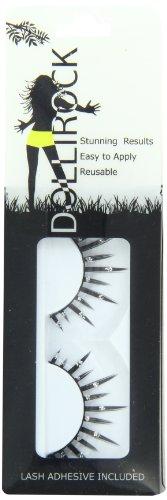 Dollirock Künstliche Wimpern Rock Style 517, 1er Pack (1 x 1 Stück) (Black Lash Tint Schwarz)