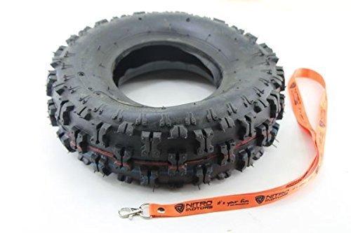 Nitro Motors Reifen für Quads 4.10-6 Tyre x Profil Pocket Dirt Bike Quad ATV + Gratis Schlüsselanhänger Lanyard (4 4 Atv X)