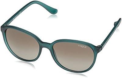Vogue - Gafas de sol Mod.2939S para mujer, Pine green transparent/Green Gradient