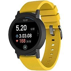 JiaMeng Transpirable reemplazo Pulsera pequeña Correa de Silicona de reemplazo Pulsera Compatible con Ticwatch E