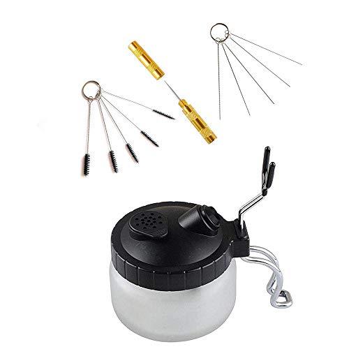 Abest 4 Set Airbrush-Reinigungsset, mit Reinigungsbürsten, Nadel, Reinigungsbehälter