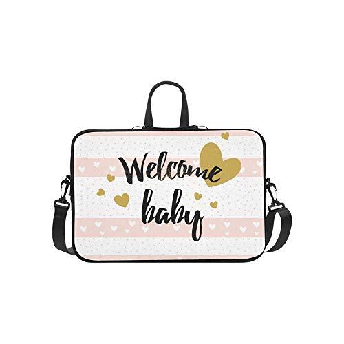 Nette Baby-Dusche-Karte Herz Aktentasche Laptoptasche Messenger Schulter Arbeitstasche Crossbody Handtasche für Geschäftsreisen