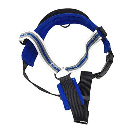 PanDaDa Durable Dog Training Walking Weste Hundegeschirr Kostüm Weste verstellbar Escape Proof gestreiften Haustiergeschirr (braun, blau, - Escape Kostüm