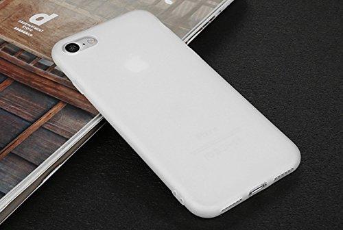 Incendemme Handyhülle für iPhone 6 Plus/ 6s Plus weiche Dünn Mattglasbirne Schutzschale für iPhone mit Einfarbig Design Handytasche aus TPU Handy Hülle Etui cover case (Schwarz) Transparent