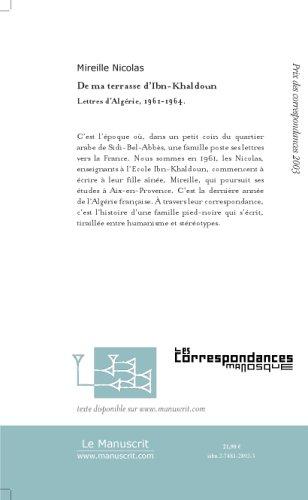De ma terrasse d'Ibn-Khaldoun : Lettres d'Algérie, 1961-1964