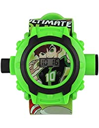 Tigra Digital Boys' & Girls' Watch (Multicolour Dial Green Colored Strap)