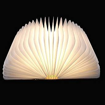 LED Plegable Lámpara del Libro, Ambiental Lámpara LED Recargable de 2000mAh, Lámpara LED con 5 Colores...