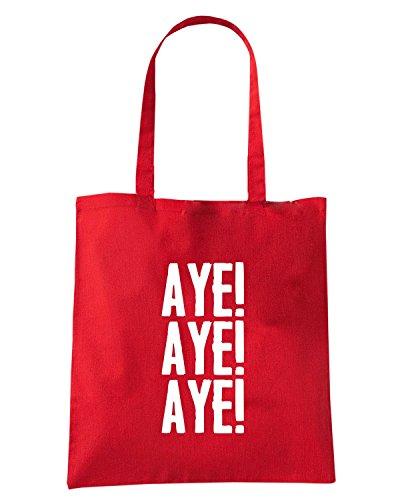 T-Shirtshock - Borsa Shopping WC0201 Aye! Aye! Aye! Rosso