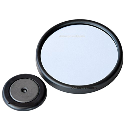 Preisvergleich Produktbild Vergrössernder Zusatz Spiegel Vergrösserungsspiegel Magnethalter SPIEGELGLAS