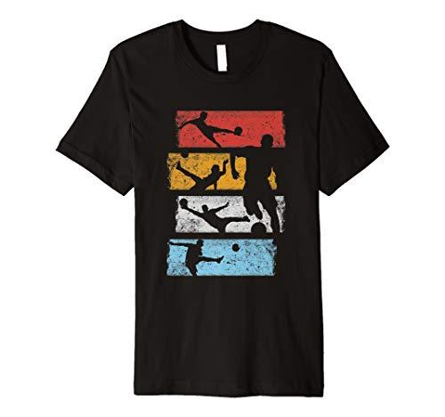 Vintage Retro Fussball Spieler Team Sport Kostüm T-Shirt