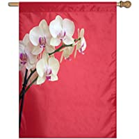 Kotdeqay Vintage Country Garden Floral Roses Flowers House Flag Banner for Outdoor House Flower D13