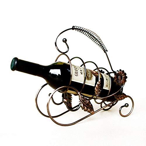 LSX Flaschenhalter Kreativ geschmiedete Iron Wine Rack Restaurant Bar Retro Weinschrank Accessoires Tisch Dekoration europäischen Weinregalmode geschmiedet Eisen kreativen Sonnenweinrahmen