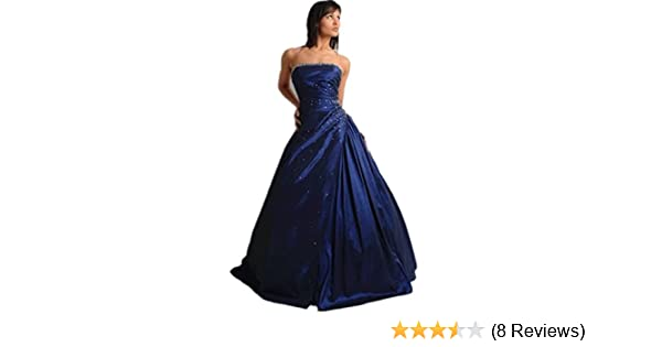 atop dress TZ28 ball EVENING prom sequined gown evening dress (22, blue): Amazon.co.uk: Clothing