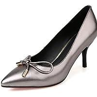 ZQ Zapatos de mujer-Tac¨®n Cono-Tacones / Puntiagudos-Tacones-Oficina y Trabajo / Casual-PU-Negro / Rosa / Rojo / Blanco , red-us8 / eu39 / uk6 / cn39 , red-us8 / eu39 / uk6 / cn39