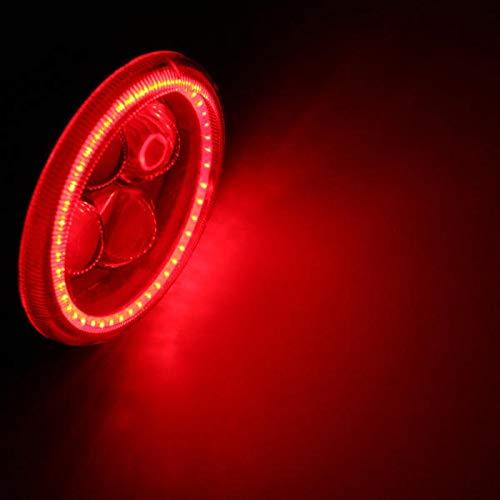 Viviance 12V 180Lm Proiettore Moto 4 LED Faro Auto Nebbia Luce W/Angelo Occhio Halo Anello Drl - Rosso