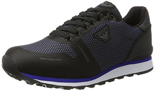 Armani - Sneaker Low Cut, Scarpe basse Uomo Nero (Nero)