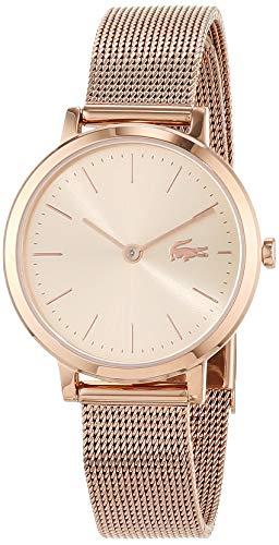 Lacoste Reloj Analógico para Mujer de Cuarzo con Correa en Oro Rosa 2001051