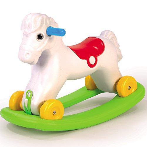 Rocking Horse Schaukelpferd und Ruschfahrzeug in Einem für Kinder ab 24 Monate geeignet • Baby Schaukeltier Rutscher Pferd Pony Garten Spielzeug Kind Pferd Rocking