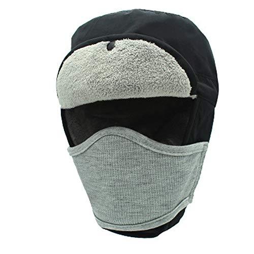 XuxMim Mens Womens Hüte Unisex Warm Trapper Flieger Trooper Winter Ski Hut Maske