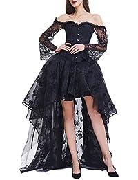 c4a2ac334d86 EmilyLe Donne di Halloween del Corsetto Gotico Disossato Vestito a Bustino  Clubwear Partito Outfit