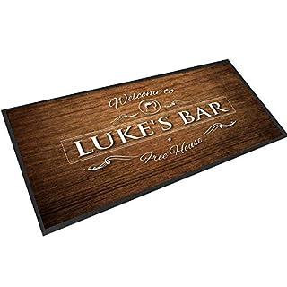 Artylicious Personalisierbare Tischmatte mit Holz-Effekt, für Bar Pub
