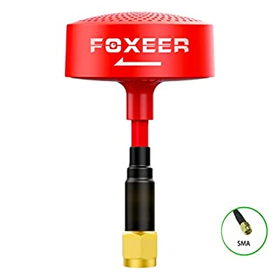 FOXEER 5.8G Circular Polarized Omni Cloud Spirit Tx Rx RHCP Mini Antenna SMA PA1325 for 5.8GHz Drone FPV Racing(Red)