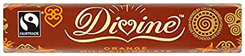 Divine Fairtrade Orange Milk Chocolate 40 g (Pack of 10)