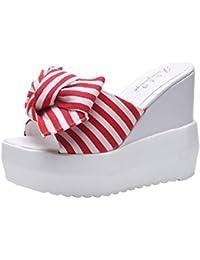 b95831f464834d SOMESUN Sandali col Tacco da Donna Moda Massaggio Estivo Traspirante delle  Scarpe Flatform dei Sandali del