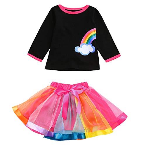 Günstige Neon Tutu - Lazzboy Kleinkind Baby Kind Mädchen Regenbogen