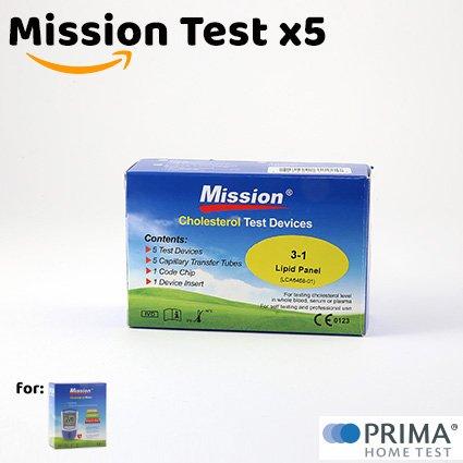 5 Cholesterin Streifen (für Mission 4in1)