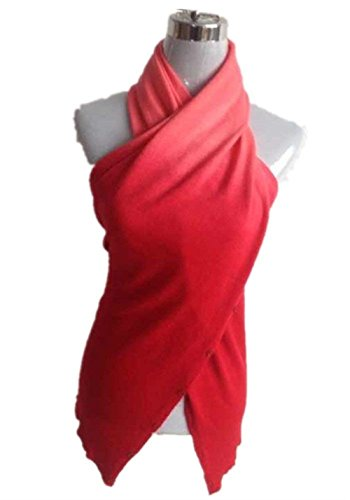 Damen Tank Top Elegante Sommer Ärmellos Trägerlos Ombre Oberteile Freizeit Mode Tops Cute Chic (Color : Rot, Size : One ()