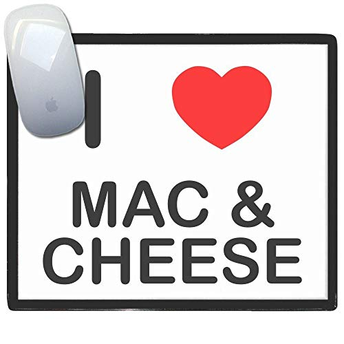 I Love Mac N Cheese - tappetino di plastica del mouse