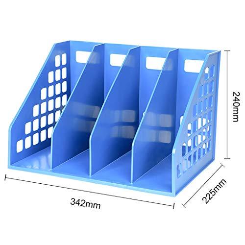 Aktenschränke Schränke Aktenbox Office-Aktenbox Desktop-Aktenhalter Aktenspalte Aktenkorb Bücherregal Tisch-Datenregal Verwendung for Schüler Ordner mit mehreren Ebenen ( Size : 34.2*22.5*24CM ) -