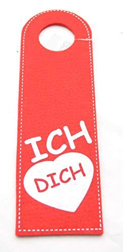 Schnäppchenladen24 XL Türschild ICH Liebe Dich für Hotel/Pension / Gäsezimmer/Cafe aus Filz