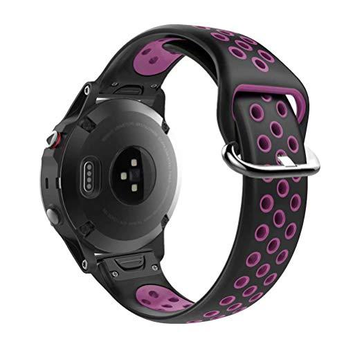 Breite Molding (ZOOPY Verstellbaresmit zweifarbigem 20mm breite Komfort-Silikon-Ersatzarmband Für Fenix 5S/ Fenix 5S Plus GPS-Laufuhr Smartwatch)