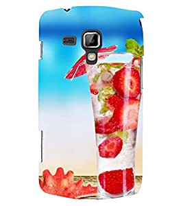 Printvisa Yummy Strawberry Summer Drink Back Case Cover for Samsung Galaxy S Duos S7562