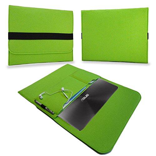 UC-Express® Tasche Hülle für Lenovo Ideapad Miix 310 Filz Case Sleeve Cover Tablet Bag Schutzhülle, Farben:Grün