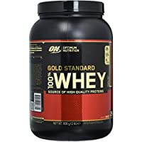 Optimum Nutrition Gold Standard Whey Eiweißpulver (mit Glutamin und Aminosäuren, Protein Shake von ON), Double Rich Chocolate, 29 Portionen, 0.9kg