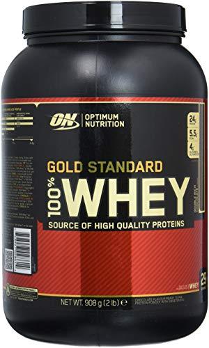 Optimum Nutrition Gold Standard Whey Eiweißpulver (mit Glutamin und Aminosäuren, Protein Shake von ON), Double Rich Chocolate, 29 Portionen, 0.9kg