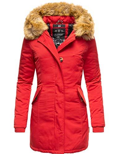 Marikoo Damen Winter Mantel Winterparka Karmaa Rot Gr. L