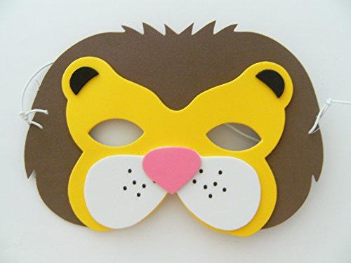 e f. Kindergeburtstag Karneval Fasching Tier Tiere Masken Theater Zoo Löwen ()