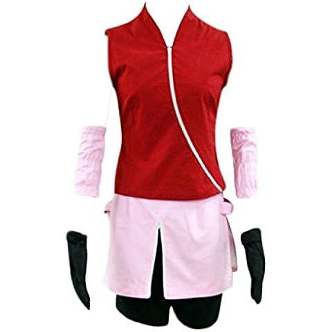 Dream2Reality Anime giapponesi Naruto Costumi Cosplay -Haruno Sakura 2nd Ver Medium - Spandex Uniform