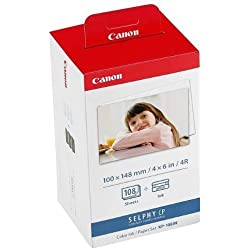 Canon Color Ink Paper Lot de 108 Feuilles de Papier Photo pour Canon Selphy CP 900 Format Photo A6 100 x 148 mm