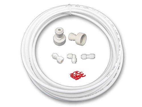AS6K-10. Wasserzulaufleitung Universal Anschluss-Set für Kühlschrank Side by Side. Wasserschlauch 6,4mm(14