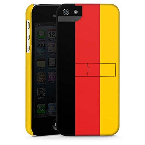Apple iPhone X Silikon Hülle Case Schutzhülle Deutschland Flagge Fußball Premium Case StandUp