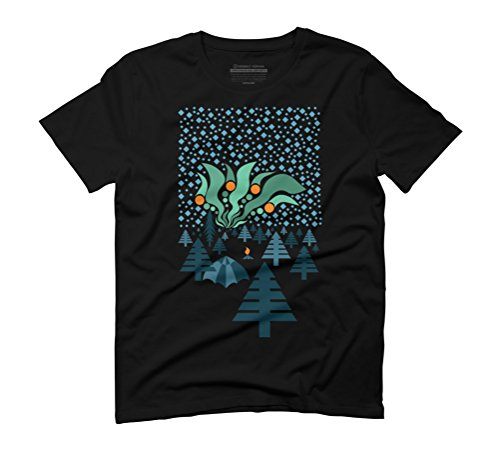 Aurora Borealis Men's 3X-Large Black Graphic T-Shirt - Design By Humans (Aurora Borealis-bekleidung)
