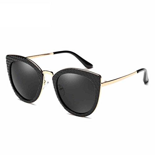 ZHIRONG Lunettes de soleil mode dames verres polarisés crème solaire pêche golf tourisme conduite lunettes à grand cadre, avec strass ( Couleur : 06 )