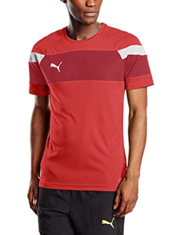 PUMA Herren T-shirt Spirit II Training Jersey, red-white, S, 654655 01