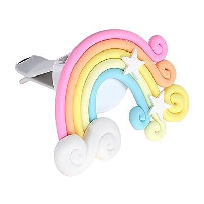 Itimo Désodorisant pour voiture Lollipop et Rainbow prise d'air Ornement pour Lady Fille/Auto Parfum accessoire Auto Car-styling solide Fragrance (Arc-en-ciel)